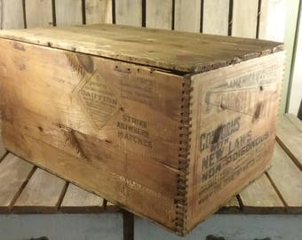 Diamond Matches Crate With Lid