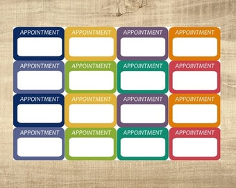 """16 Multi-Coloured """"Appointment"""" Stickers for Erin Condren LifePlanner"""