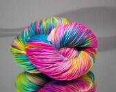Hand dyed DK yarn - Tropicana - 75/25% Superwash Merino wool/ Nylon yarn - 4 ply