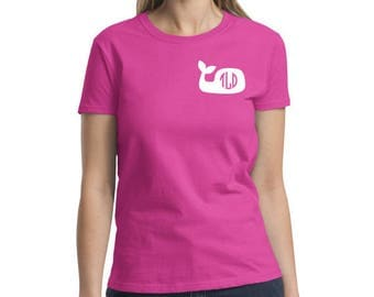 Monogrammed Whale T-shirt
