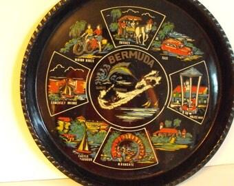 Vtg Bermuda Souvenir Tray  (1143)