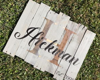 Rustic Wooden Personalized Wedding Sign, Rustic Home Decor, Pallet Wood Signs, Rustic Signs, Wedding Signs