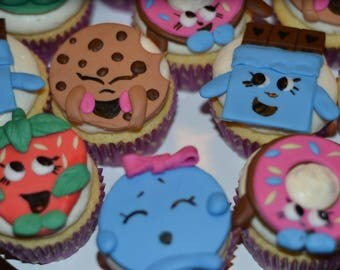 Shopkins Cupcake Toppers