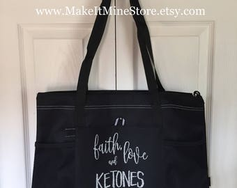 Faith Love and Ketones SHOULDER BAG  ketone Pruvit  ketogenic keto//os keto os