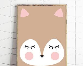 70% OFF SALE deer head, deer print, deer head wall mount, woodland art, instant download, sleepy art, digital decor, deer poster