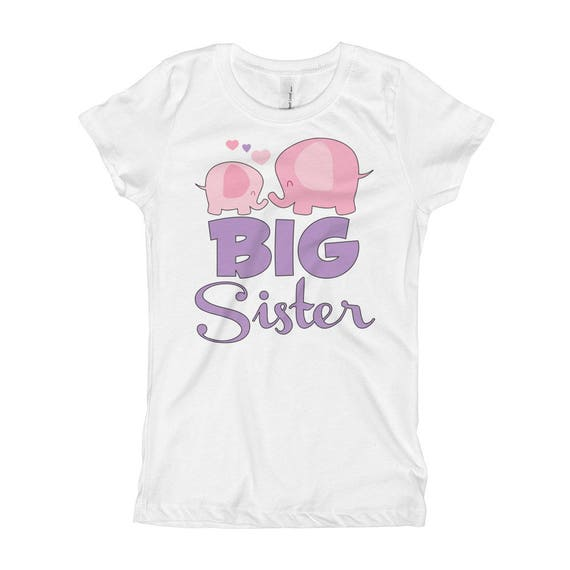 Elephant Big Sister Elephant Big Sister Shirt , Big Sister Shirt, Big Sister Announcement Shirt, Sibling Pregnancy Baby Announcement Shirt
