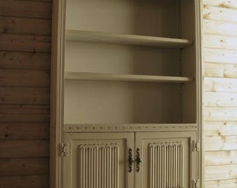 Shabby chic painted Wood Bros Old Charm Bookcase,annie sloan Versailles