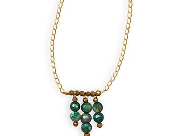 Handmade Green with Envy Necklace