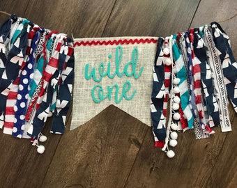 Wild one teepee tribal highchair banner