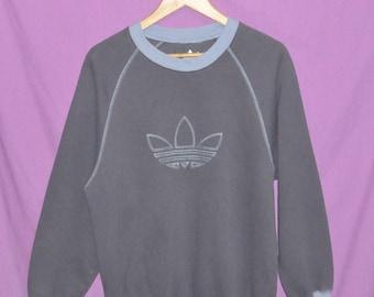 Vintage Adidas Trefoil Medium Size Sweatshirt Sweater Crewneck