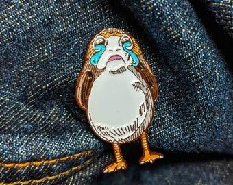 Sad Porg Pin PRE-ORDER   Star Wars Christmas Gift Porg Enamel Pin Stocking Stuffers Soft Enamel Pin Last Jedi Gift for Her Chewbacca