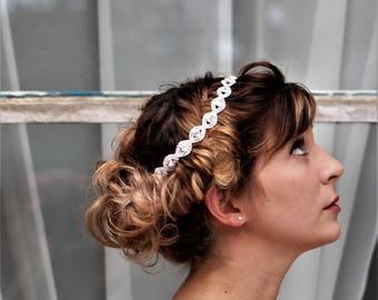 Silver Wedding Headband, Bridal Headpiece, Rhinestone Headband, Hair Tiara, Hair Jewelry, Bridesmaid, Hair Accessory