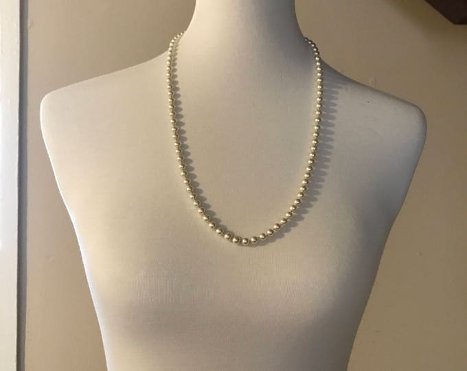 Vintage Pearl Necklace, Vintage Wedding Necklace, Pearl Necklace, Something Old