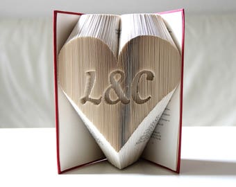 Me & You in the heart-folded book