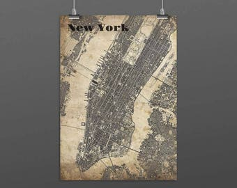 New YORK-Din A4/DIN A3-Print-Vintagestyle
