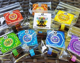 Chakra Essential Oil Blends ~ PICK ANY 2! / ORGANIC / Pure, Undiluted Therapeutic Grade Essential Oils