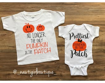 Prettiest pumpkin, harvest shirts, pumpkin shirts, halloween shirts, sibiling shirts