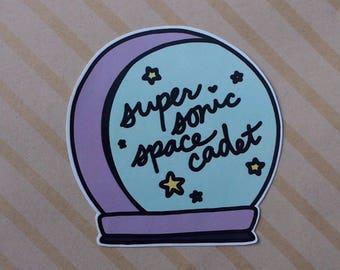 Super Sonic Space Cadet Sticker