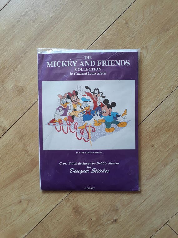 F14 The Flying Carpet Cross Stitch Kit Mickey And Friends