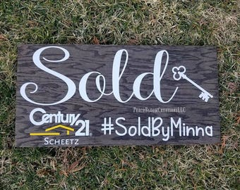 realtor social media sign, custom realtor sold sign, realtor gift, realtor logo sign, realtor marketing sign,  best selling items wood