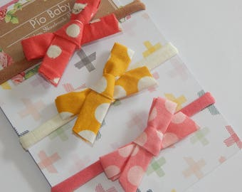 Baby girl Hair Bows, Nylon Headbands, Baby headbands set, Small bows baby, One size fits all bows, Baby shower gift