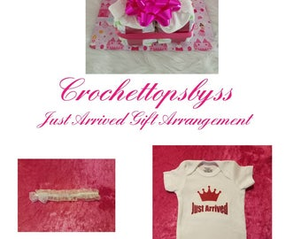 Just Arrived Infant Girls' Gift Arrangement