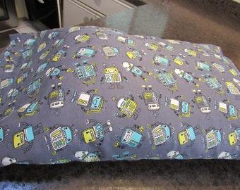 ROBOTS  GALORE,  Flannel,  Pillow Case