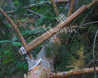 Hand forged Francisca axe, Viking axe, Forged axe, hand crafted axe