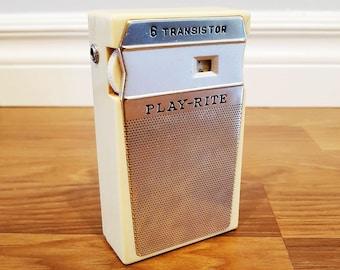 1960s Play-Rite 6 Transistor Radio, Made in Japan