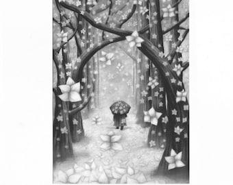 Winter - Postkarte - Illustration - Kunst - Geschenk