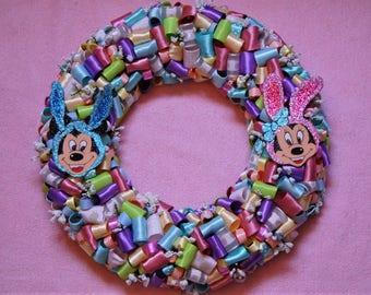 Of Mice and Bunnies - Handmade Wreath