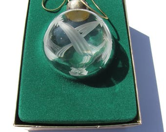 Lenox Clear Round Cut Crystal Christmas Ornament Christmas Lights Famous Estate