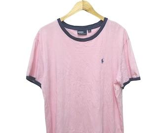 Hot Sale!!! Rare Vintage 90s POLO RALPH LAUREN Ringer T-Shirt Hip Hop Skate Swag Extra Large Size