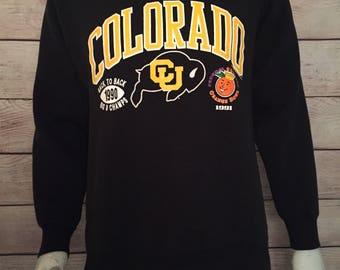 Vintage 1990 Orange Bowl Colorado University crewneck Sweatshirt