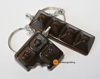 ' Chocolate ' resin keychain
