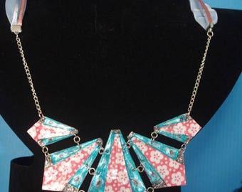 "Necklace ""Diamond points"" genuine p - (CLR_002)"