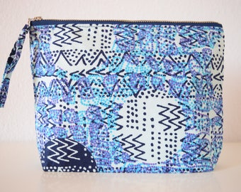 Blue Disco African Fabric Clutch