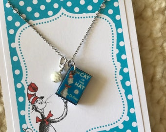 Cat in the hat etsy for Cat in the hat jewelry
