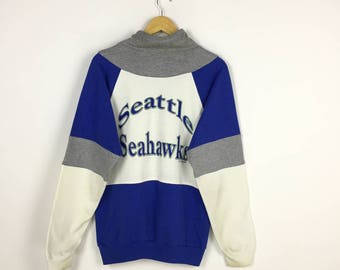 Seattle Seahawks Sweatshirt NFL Vintage 90s multicolor sweater