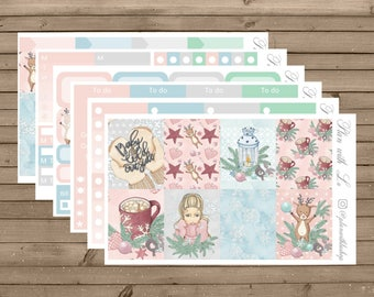 Warm and Cozy Sticker Kit | Erin Condren Sticker Kit | Winter Sticker Kit | 6 Page Sticker Kit | Weekly Sticker Kit