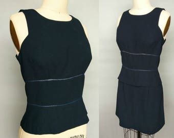 rachel green / 90s minimalist two piece dress / sleeveless top and mini skirt / 4 6 small xs