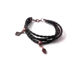 Brown women bracelet