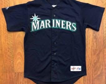 Vintage Seattle Mariners Jersey Size Medium Majestic Diamond Collection