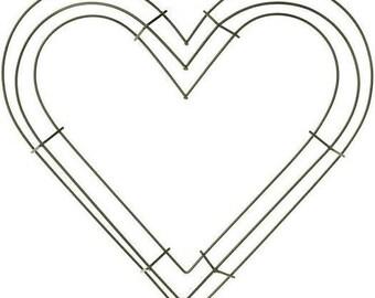 heart shaped wire wreath frame 12 - Wire Wreath Frames