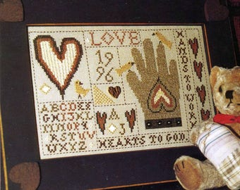 Hands to Work - Hearts to God by Homespun Elegance Counted Cross Stitch Pattern/Chart
