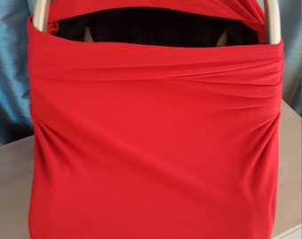 Red  Stretchy Nursing/ Car seat Cover