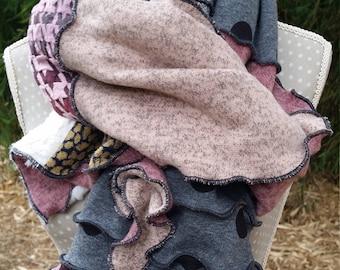 Original designer pink and gray scarf