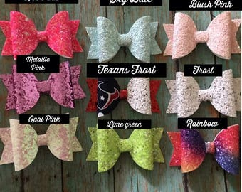 Glitter Bow Medium size 3.5 inches