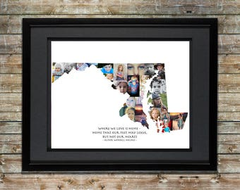 Maryland Photo Collage - Maryland Wall Art - Maryland Art - Maryland Map - Maryland Print - Maryland Picture Collage