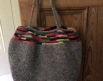 Crocheted Market Tote Bag